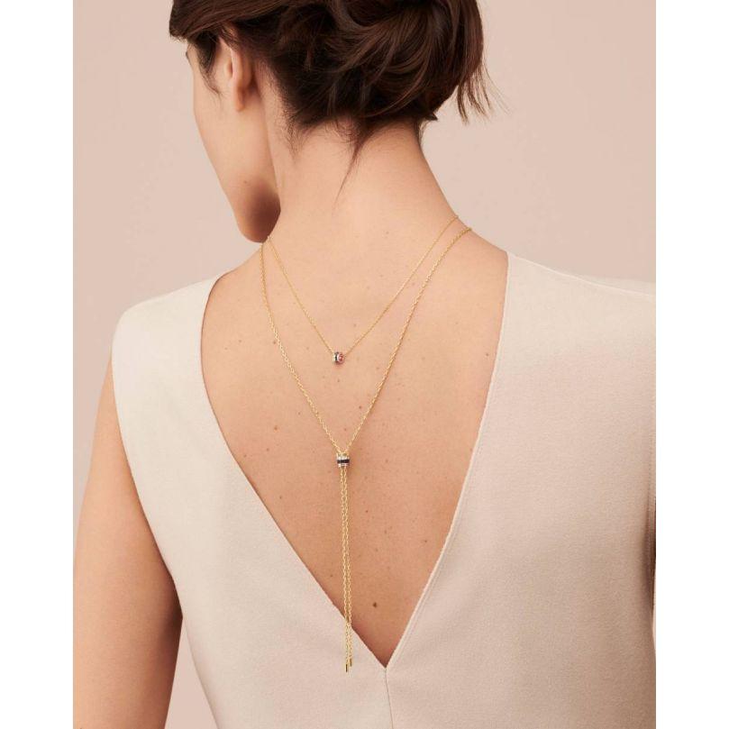 Second worn look Quatre Classique Tie Necklace, small model