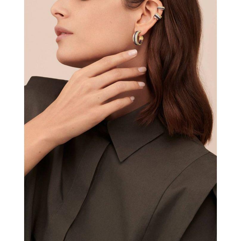 Second worn look Quatre Classique Hoop Earrings
