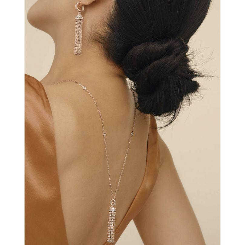 Second worn look Pompon Pendant Earrings