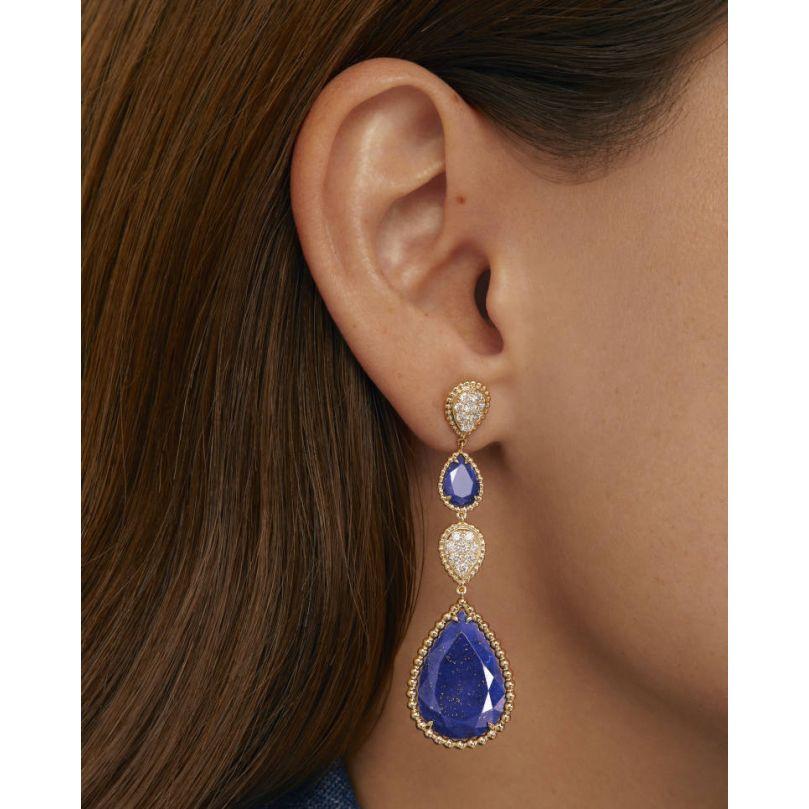 Second worn look Serpent Bohème Pendant Earrings, XS and L motifs
