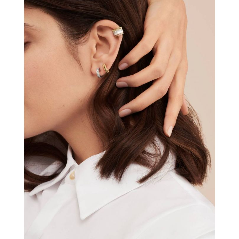 Second worn look Quatre White Edition Single Clip Earring