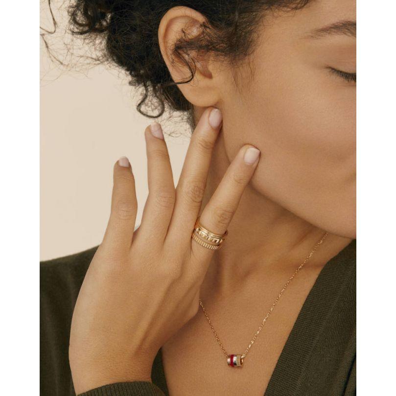 Second worn look Quatre Red Edition Mini Ring Pendant