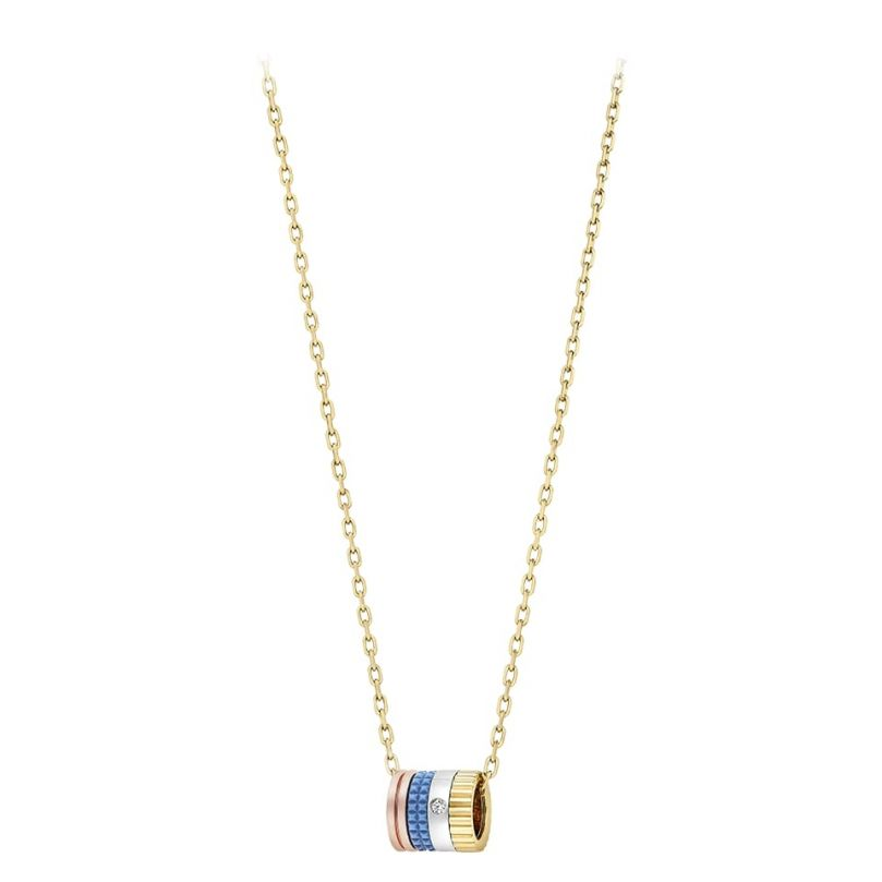 First product packshot Quatre Blue Edition Mini Ring Pendant