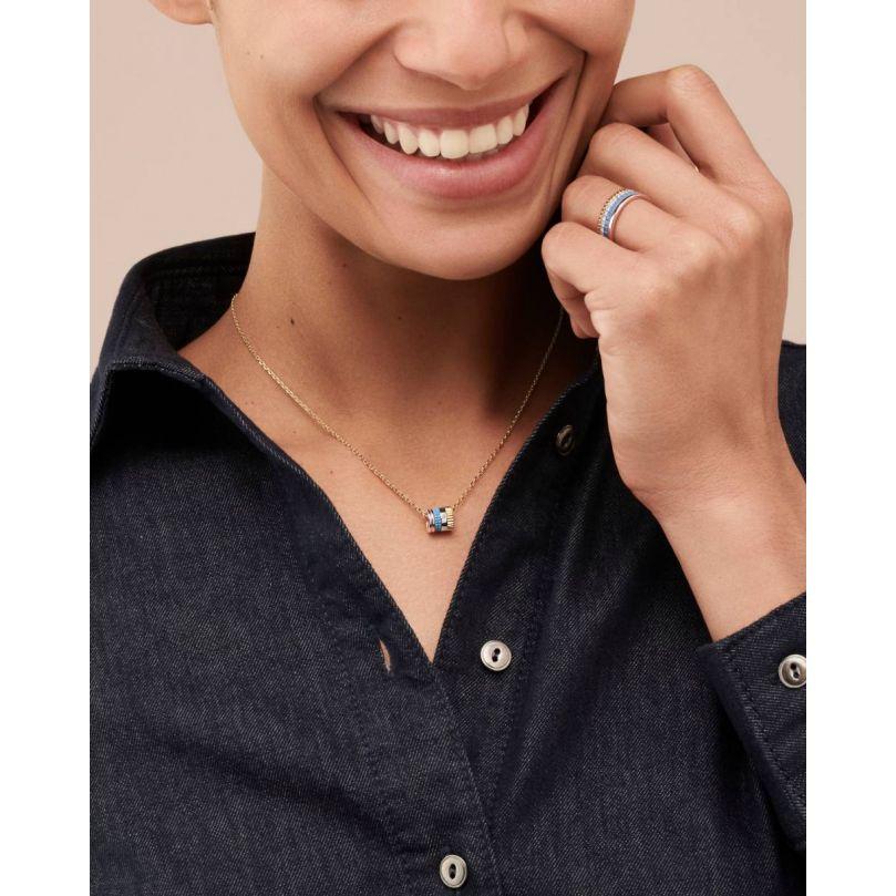 Second worn look Quatre Blue Edition Mini Ring Pendant