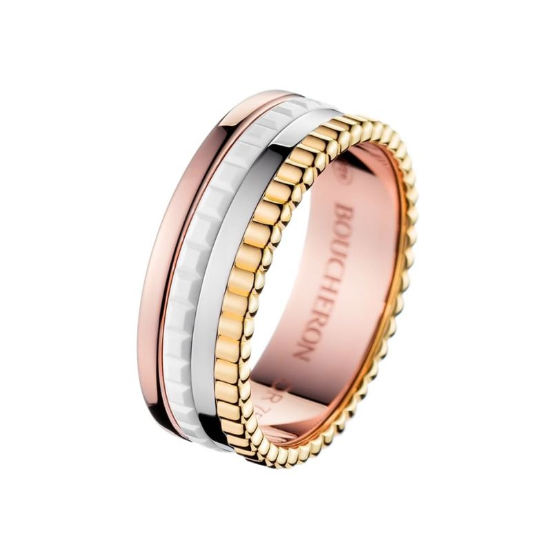First product packshot Bague Quatre White Edition Small