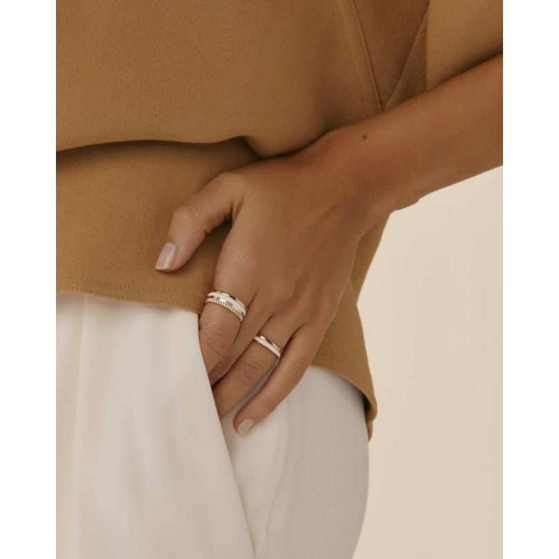 Second worn look Bague Quatre White Edition Small