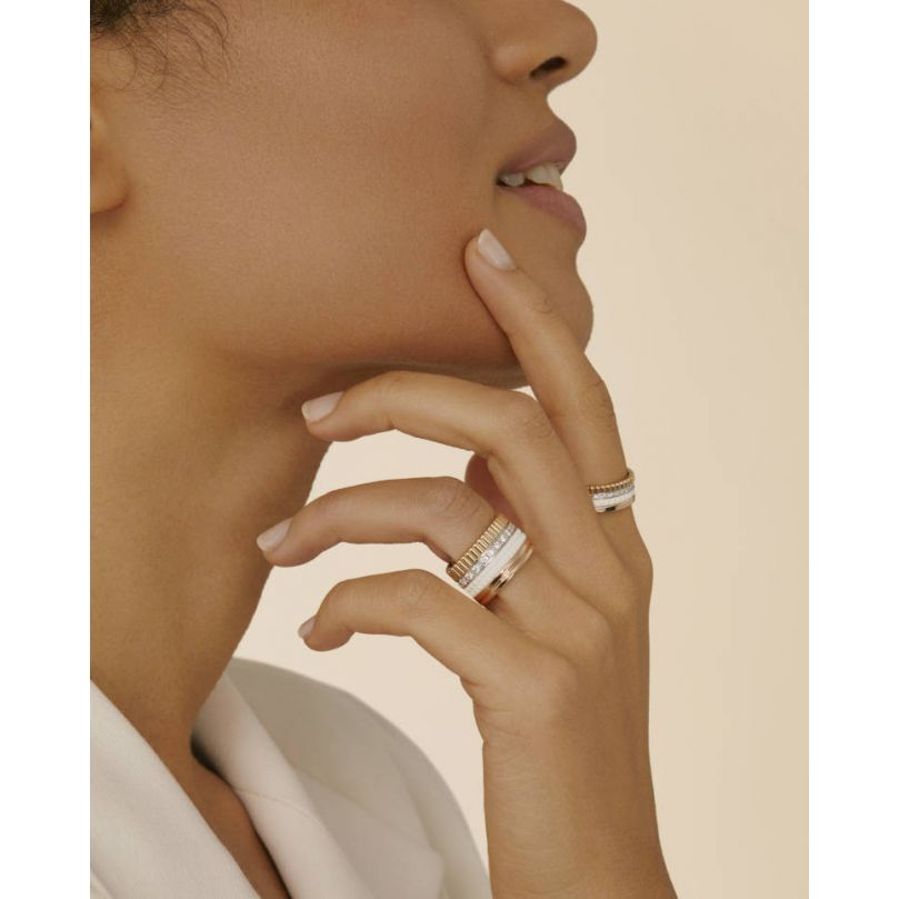Second worn look Quatre White Edition Small Ring
