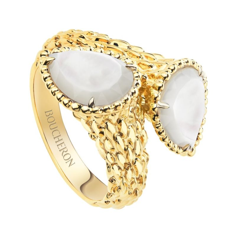 First product packshot Serpent Bohème Two-stone ring, S motifs