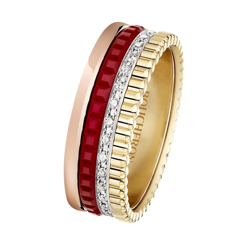 First product packshot Bague Quatre Red Edition small