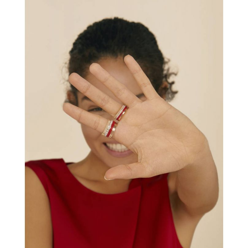 Second worn look Bague Quatre Red Edition small