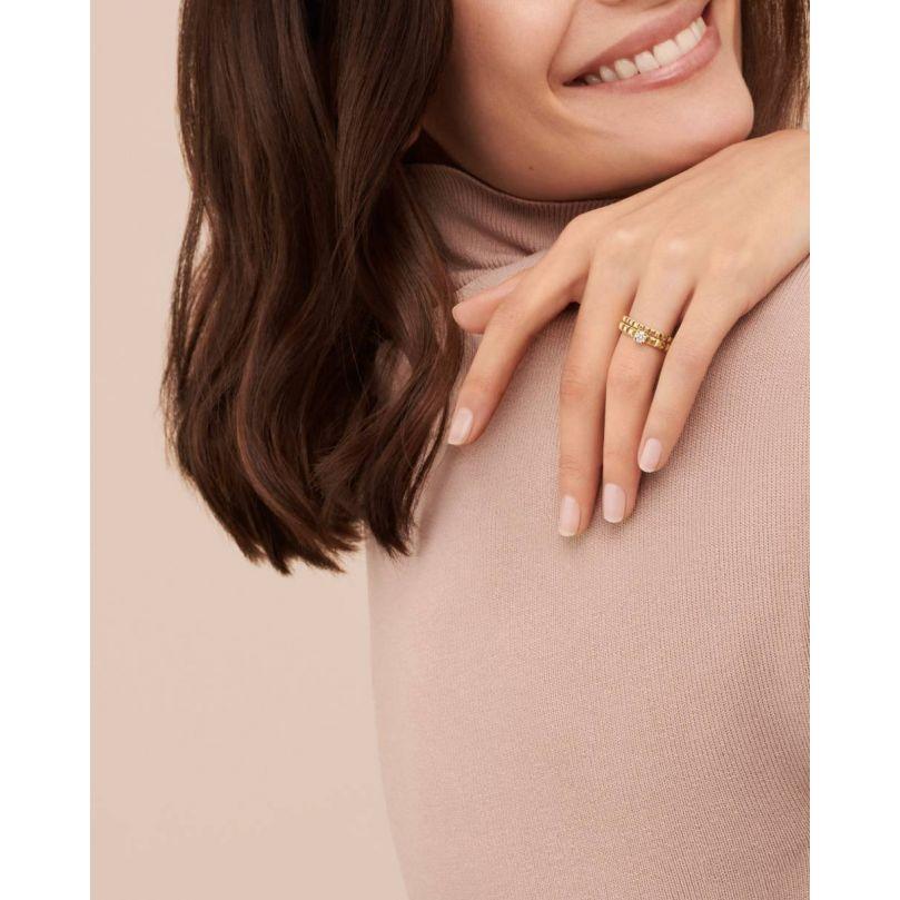 Second worn look Clou de Paris Engagement ring 0,20 carat