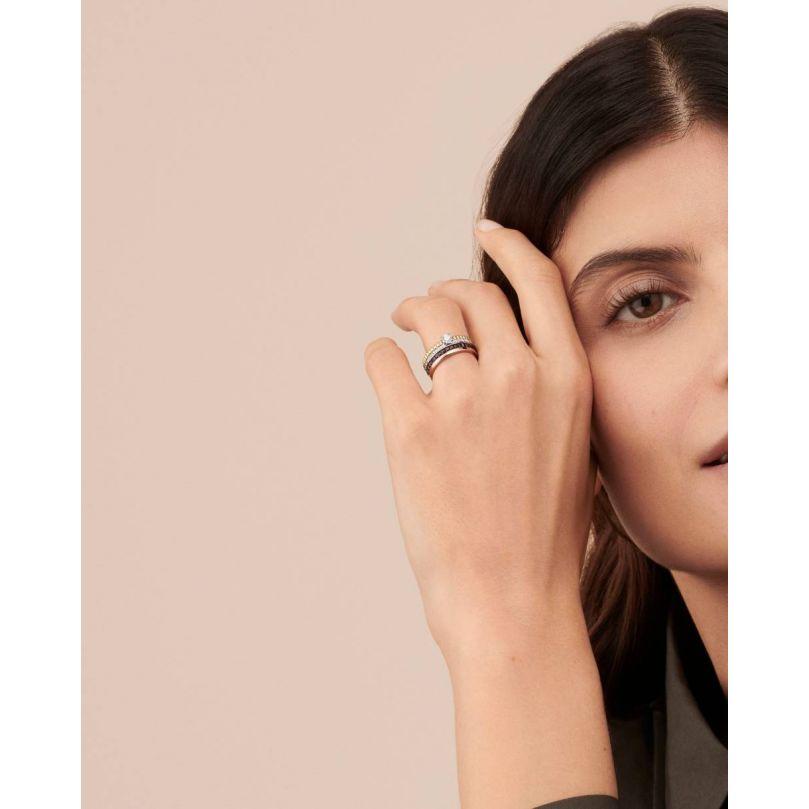 Second worn look Quatre Radiant Edition Engagement Ring