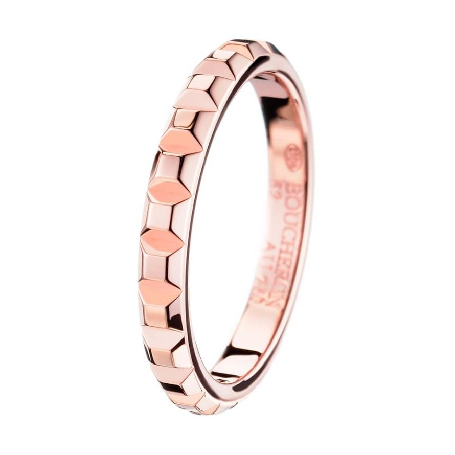First product packshot Clou de Paris Pink Gold  Wedding Band