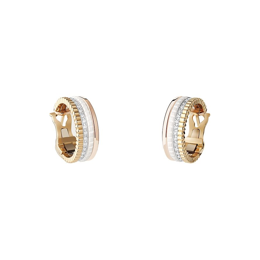 First product packshot Quatre White Edition Hoop Earrings