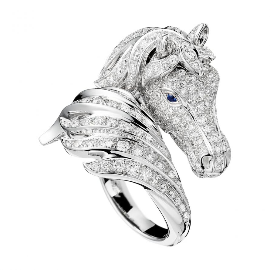 First product packshot Pégase, the horse ring Diamonds