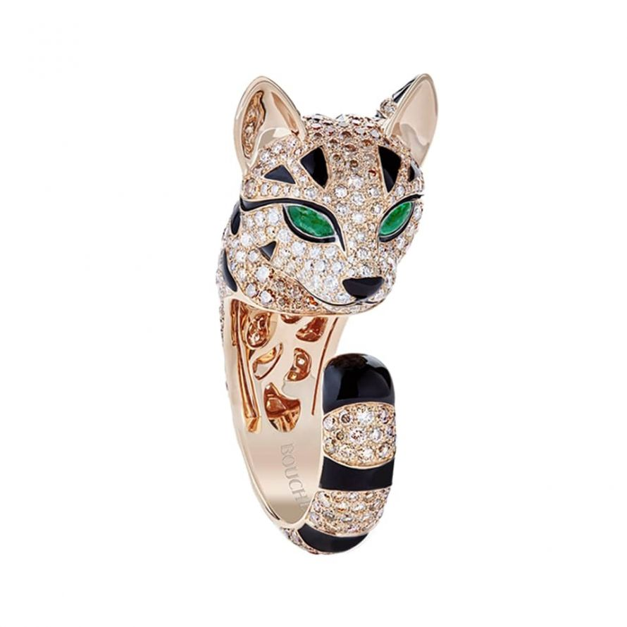First product packshot FUZZY LE CHAT-LÉOPARD ファジー レオパードキャット リング スモール
