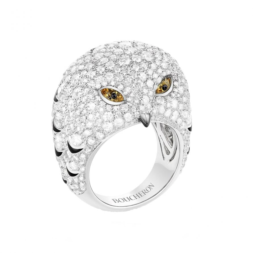 First product packshot Oulu, the Owl Ring