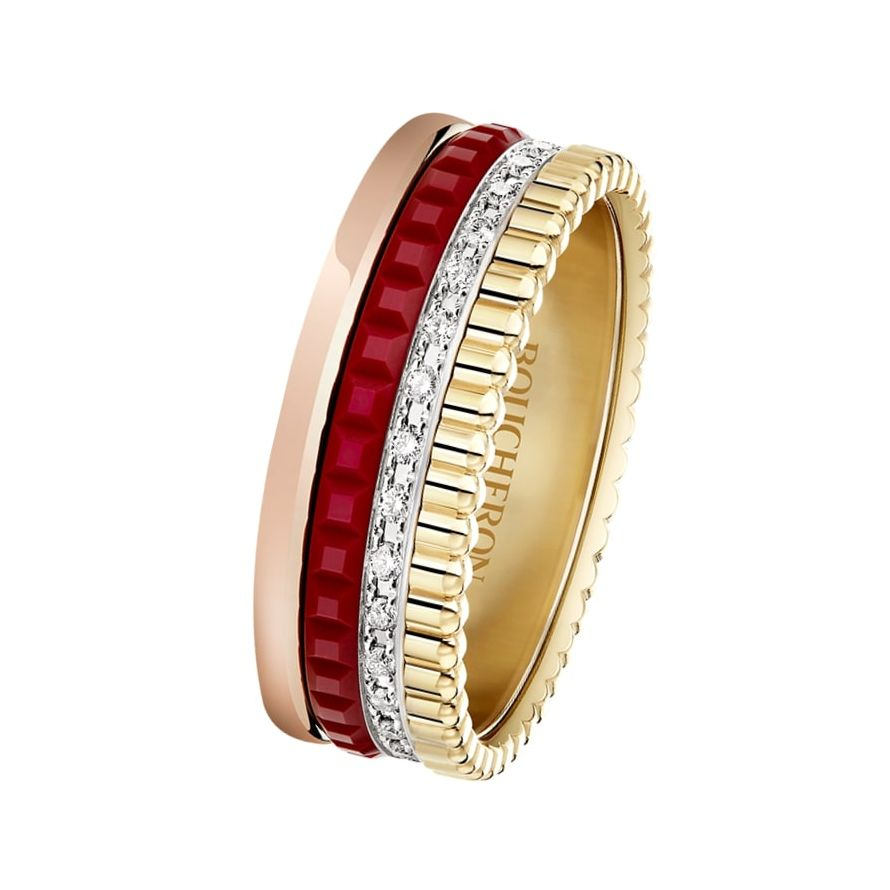 First product packshot Quatre Red Edition Small Ring