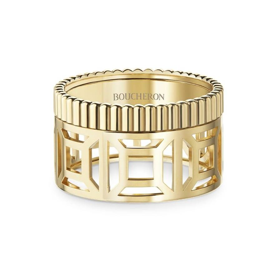 First product packshot Quatre Radiant Edition openwork ring