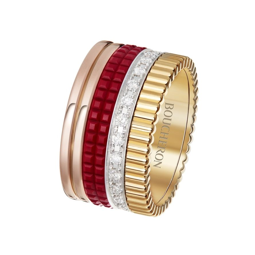 First product packshot Quatre Red Edition Large ring