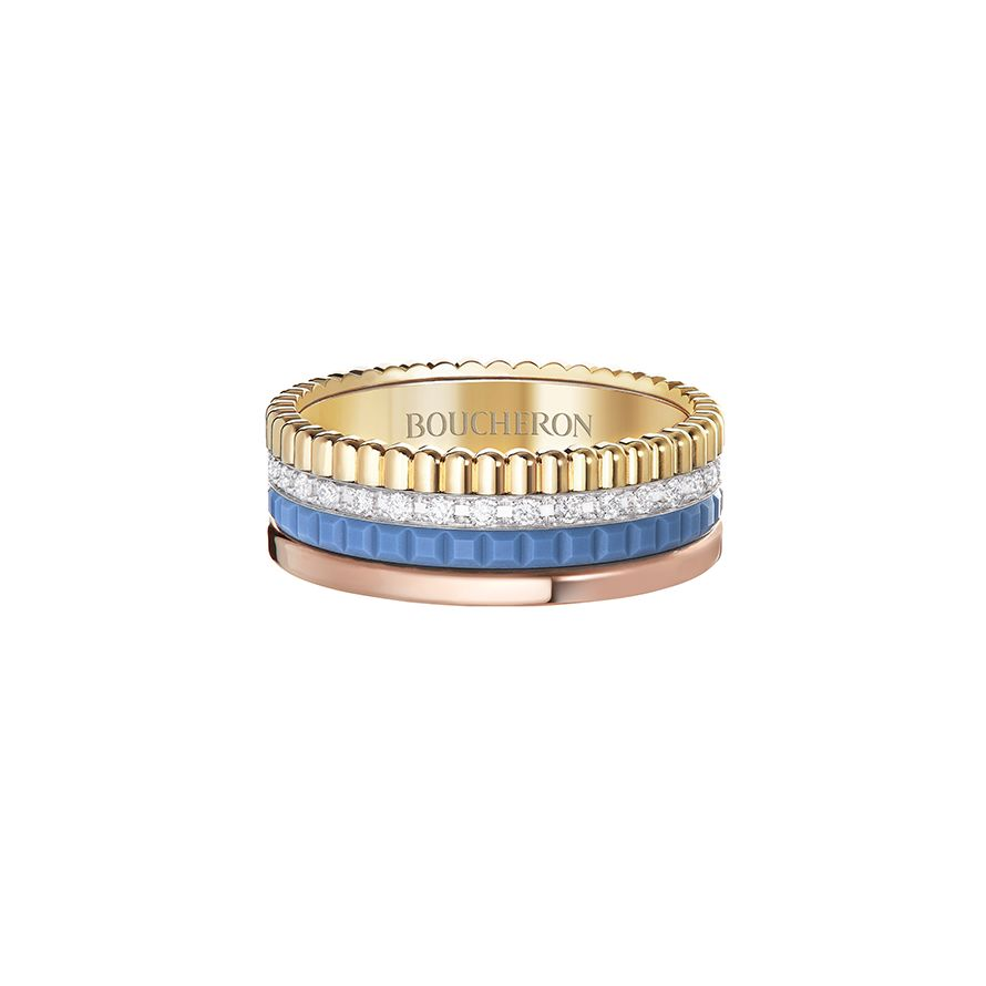 First product packshot Quatre Blue Edition Small Ring