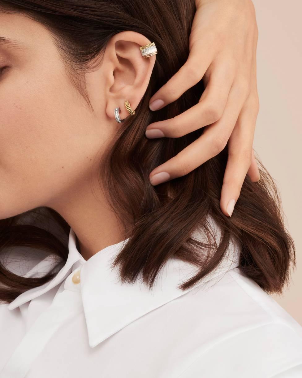 Quatre White Edition Single Clip Earring