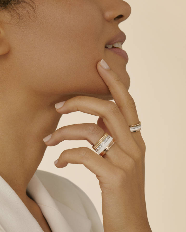 Quatre White Edition Large Ring